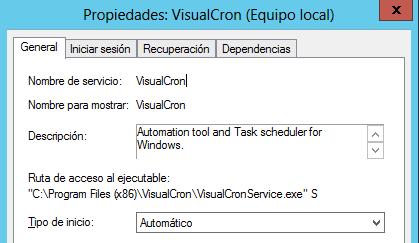 VisualCron: Primer contacto
