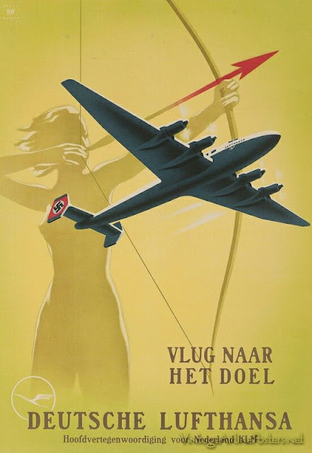 Lufthansa Fascist airplane ads worldwartwo.filminspector.com