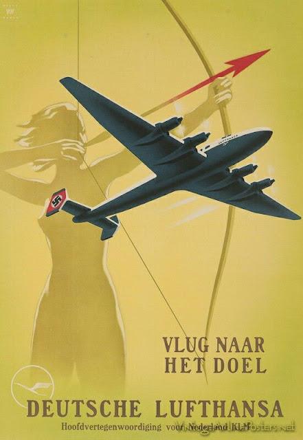 Lufthansa Fascist airplane ads worldwartwo.filminspector.com