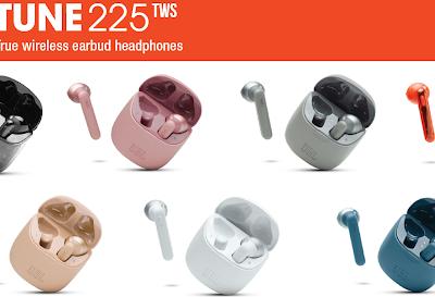 JBL Tune225 TWS. True Wireless earbud headphones