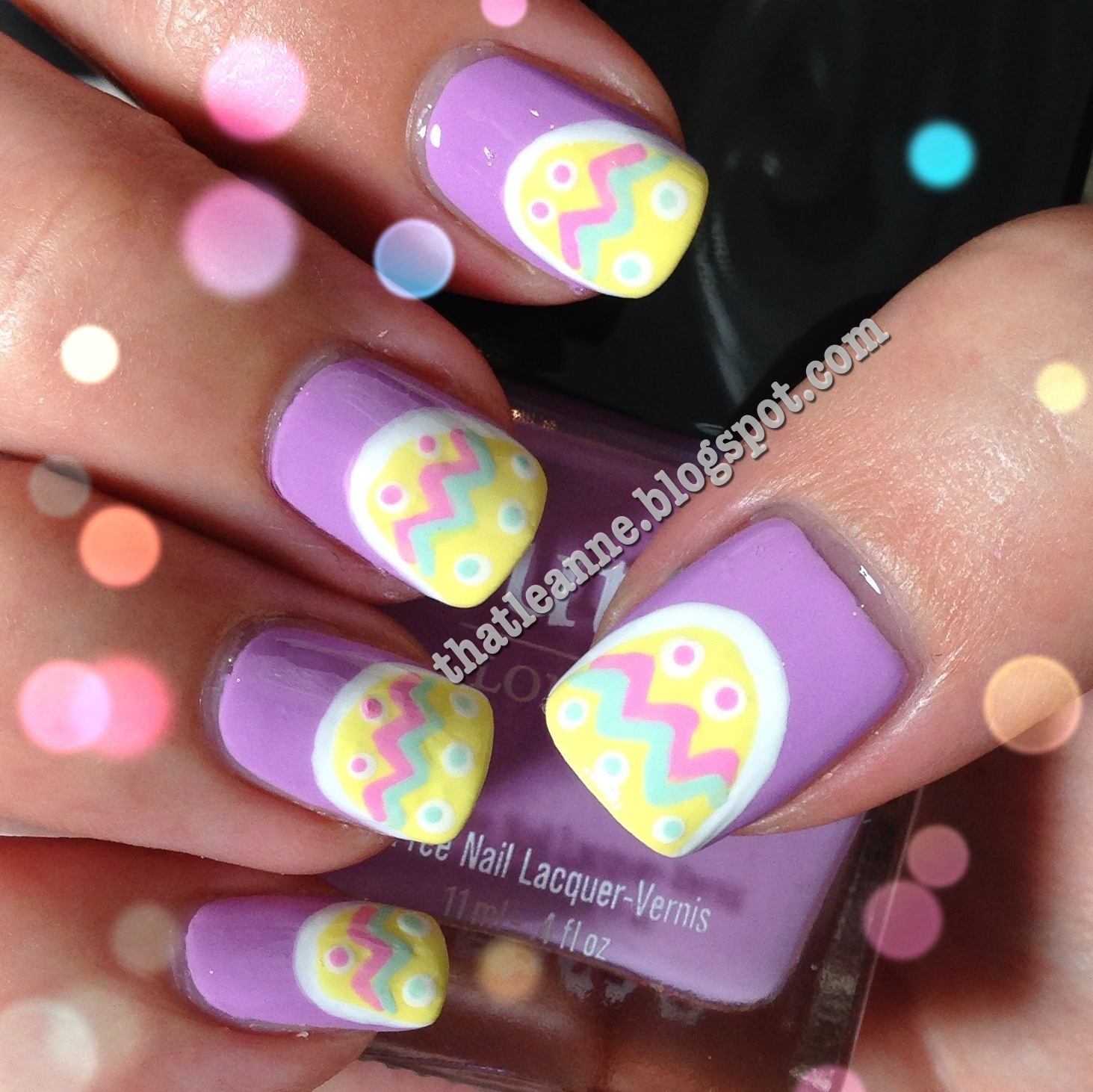 Thatleanne: Easy Easter Egg Nail Art How To