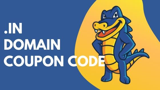 Hostgator Coupon Code: Get .IN Domain Just Rs.599 For 2 Years.