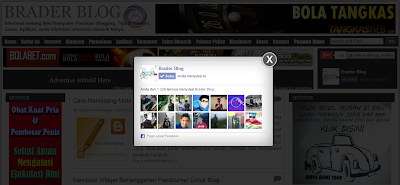 Popup Like Facebook di Blog