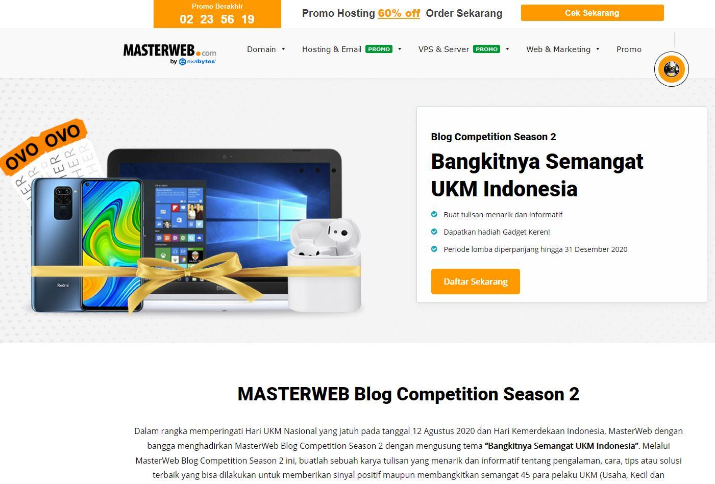 Lomba Blog Master Web