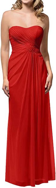 Best Red Chiffon Bridesmaid Dresses
