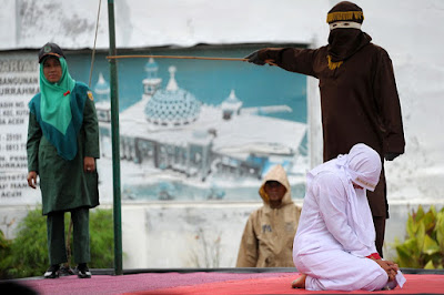 Public caning in Indonesia's Aceh province (file photo)