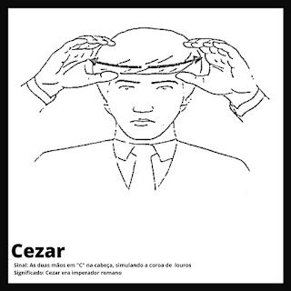Cesar em Libras