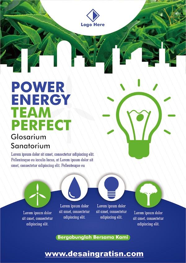 DESAIN GRATISAN TEMPLATE BROSUR POWER ENERGY