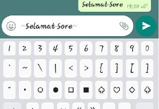 Cara membuat tulisan coret tengah di pesan WhatsApp (Strikethrough)
