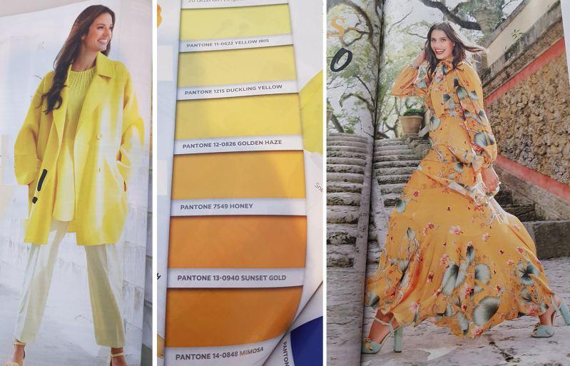 Frühjahrsmode in sonnige Gelb- und Orangetönen