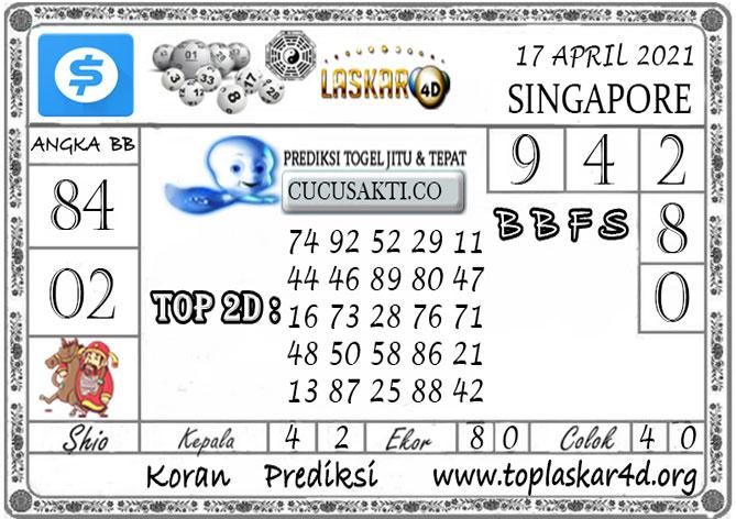 Prediksi Togel SINGAPORE LASKAR4D 17 APRIL 2021
