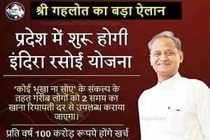 राजस्थान इंदिरा रसोई योजना 2020 क्या है? पूरी जानकारी हिंदी PDF