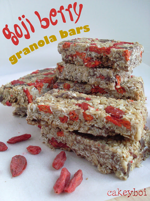 goji berry granola bars
