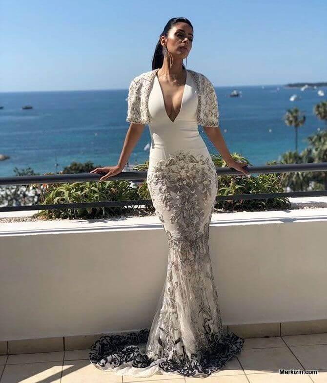 Mallika Sherawat White Dress