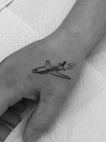 самолётик тату