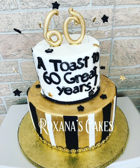 Awe Inspiring Baking With Roxanas Cakes A Toast To 60 Great Years Birthday Cards Printable Opercafe Filternl