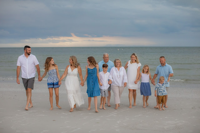 sunset family portrait