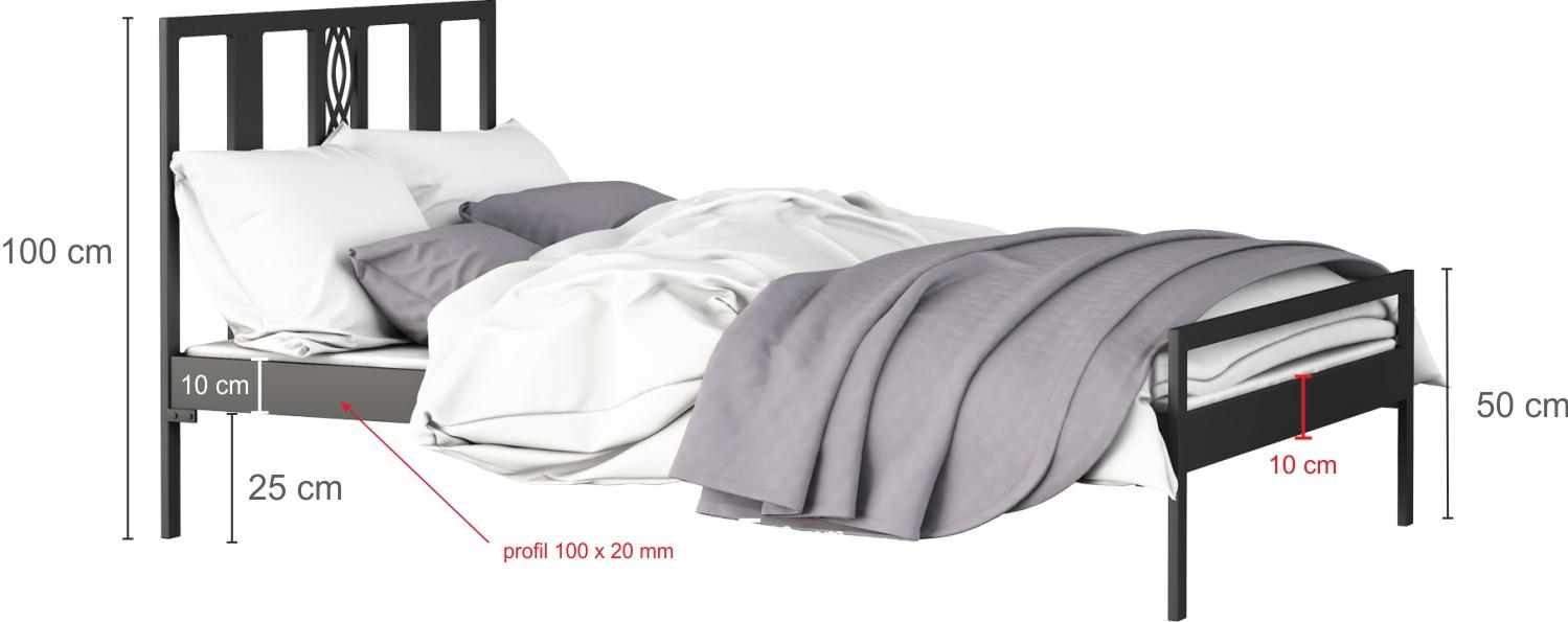 Łóżko metalowe wzór 32