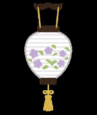 盆提灯のイラスト(吊り型)