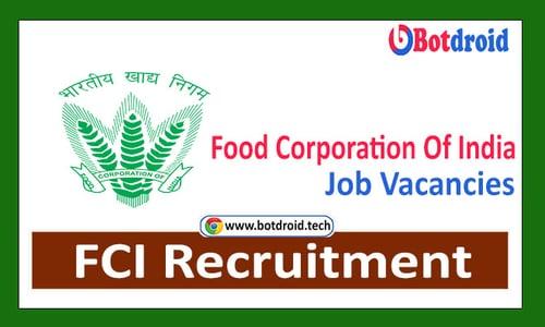 FCI Recruitment 2021, Apply Online for Food Corporation of India Job Vacancies