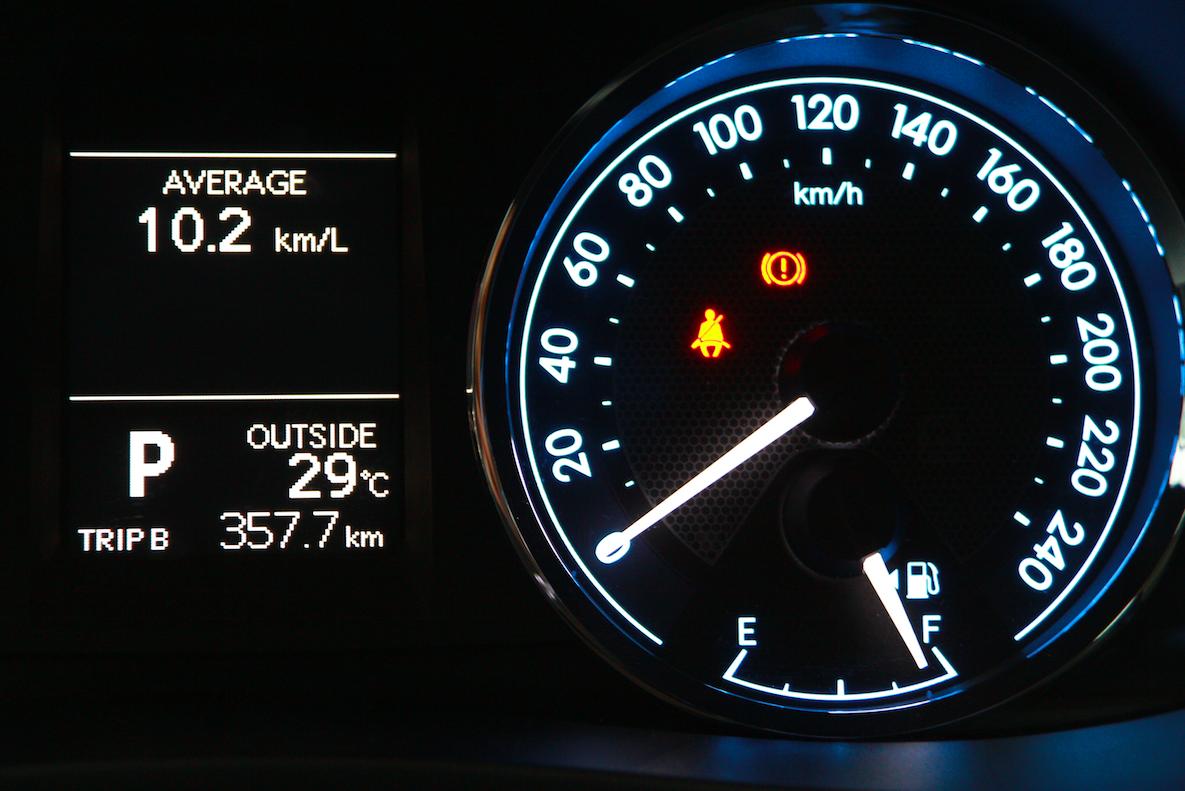 Đồng hồ hiển thị tốc độ trưc quan, dễ quan sát
