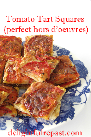 Tomato Tart Squares - a perfect hors d'oeuvre / www.delightfulrepast.com