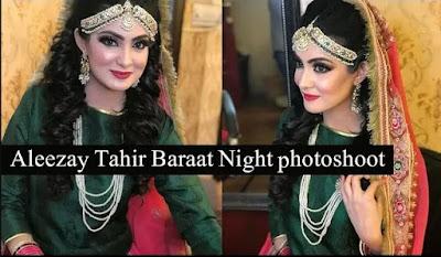 Aleezay Tahir wedding photoshoot | Baraat Night Shoot | Aleezay Tahir Wedding