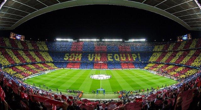 Visita ao Estádio Camp Nou em Barcelona
