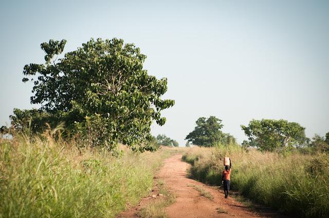 Park exit to Purongo, Uganda