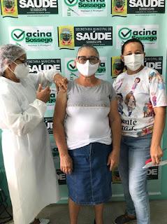Idosos da zona rural de Sossego recebem primeira dose da vacina contra Covid