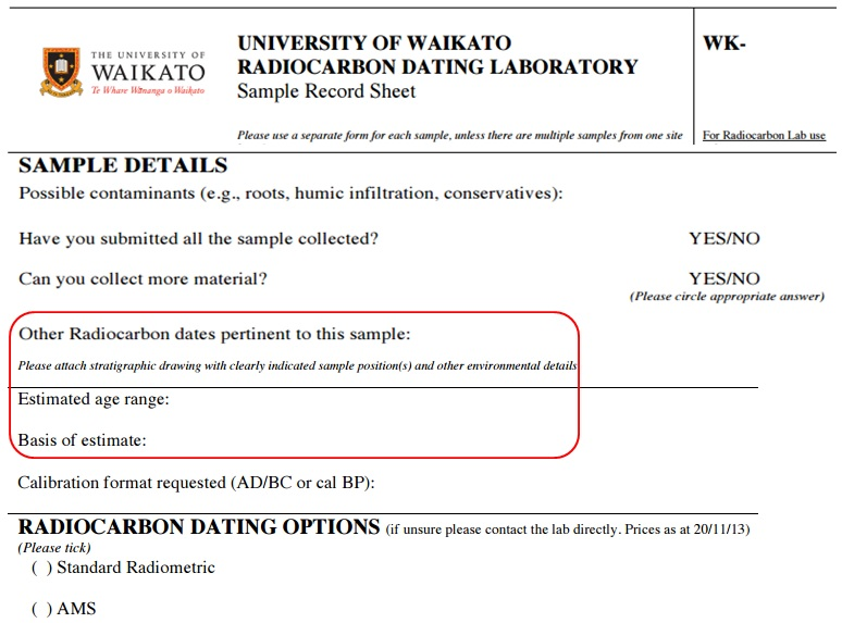 Radiocarbon dating waikato