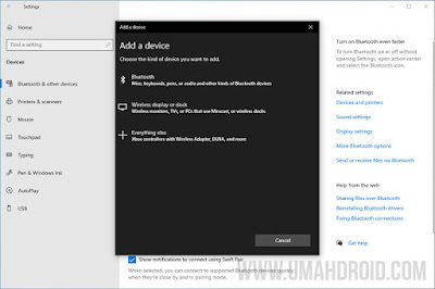 Add Bluetooth Device Windows