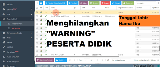 Warning peserta didik