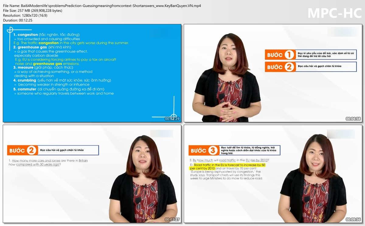 Tài liệu và Video học IELTS nền tảng 5.0