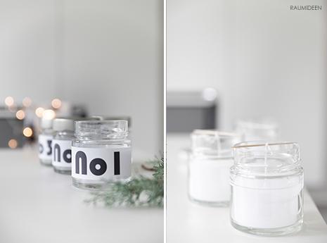 """""""Adventskranz"""" - Kerzen im Glas - Kerzen gießen einfach gemacht"""