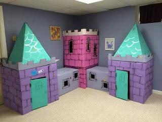 castillo de carton para niños