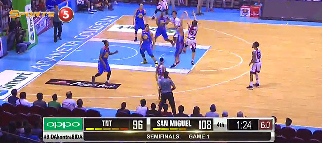 San Miguel def. TNT, 111-98 (REPLAY VIDEO) Semis Game 1 / February 8