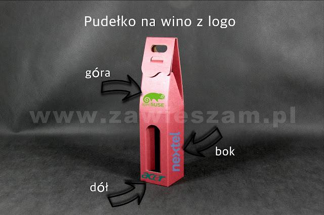 pudełka z logo firmy