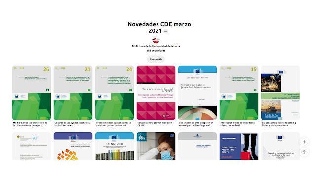 Novedades en el CDE de marzo de 2021