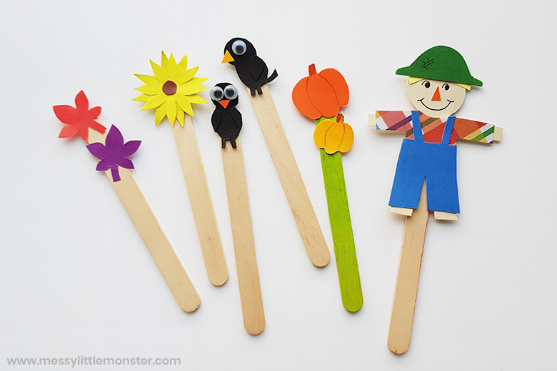 scarecrow craft for kids with scarecrow template