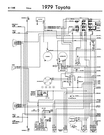 electrical wiring diagram 1986 toyota truck model repair-manuals: toyota pickup 1979 wiring diagrams