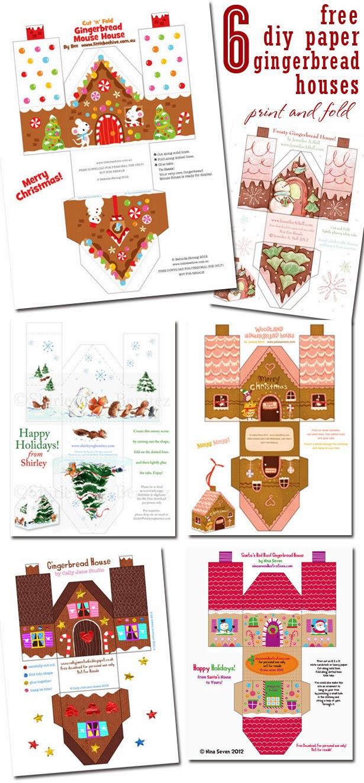 Modelli Di Case Da Costruire creare con la carta ♥: 6 +1 casette natalizie di carta da