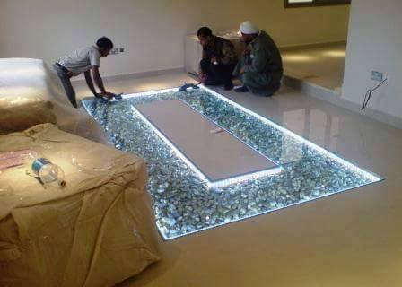 DIY-Adding-Glass-Flooring-With-Pebble-in-Your-Home%2B%25282%2529 25 Incredible Ideas Adding Glass with Pebble in Your House Flooring and Furniture Interior