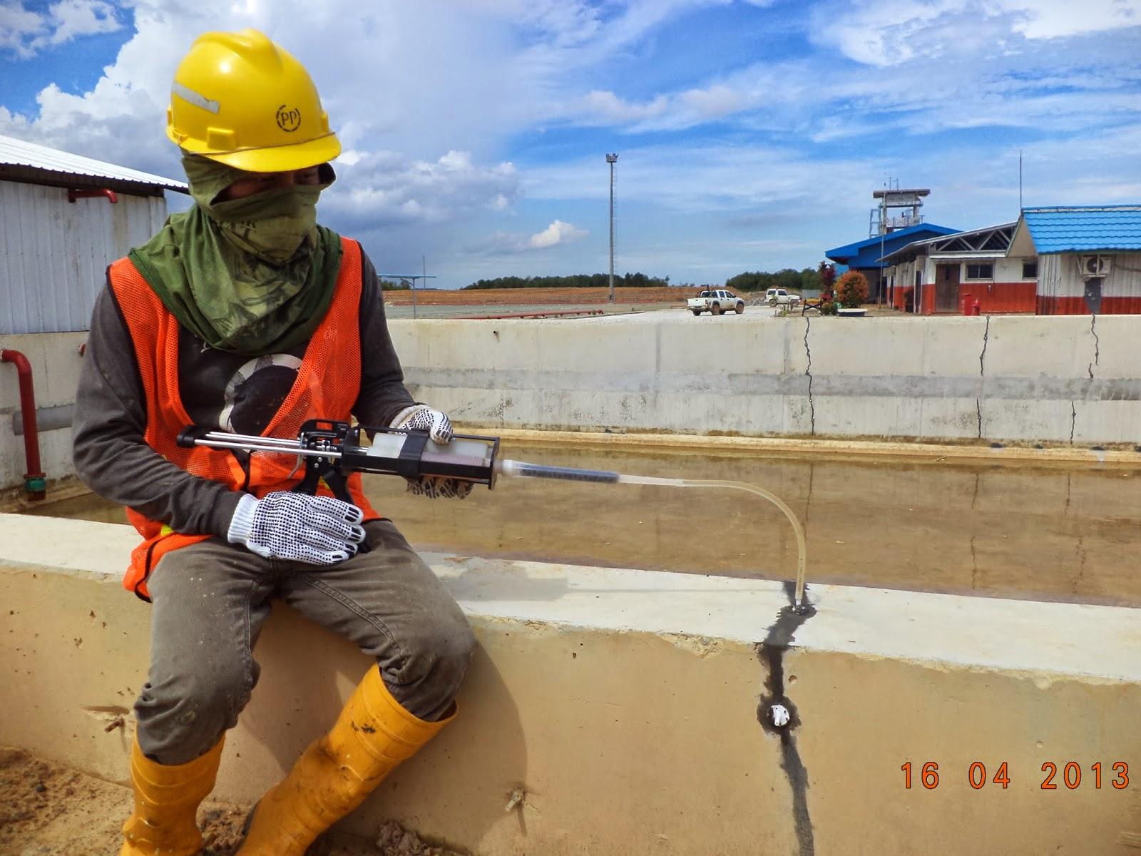 injeksi perbaikan beton pecah