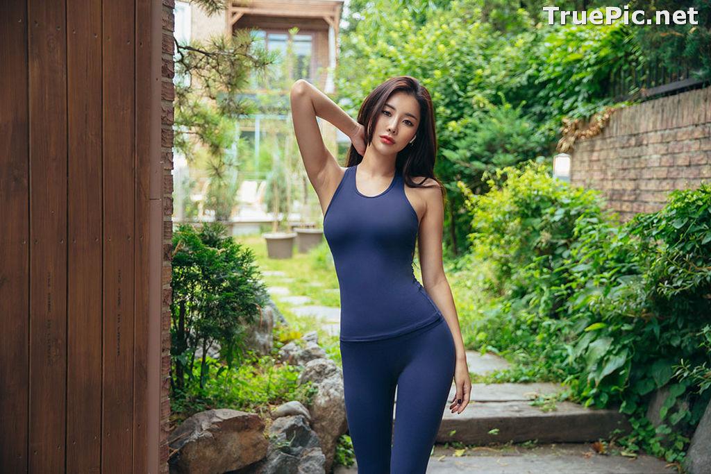 Image Korean Fashion Model - Park Da Hyun - Navy Sportswear - TruePic.net - Picture-2