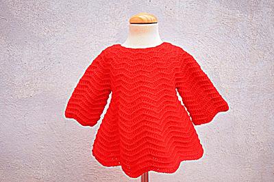 2 - Crochet Imagenes Mangas para vestido rojo navidad a crochet y ganchillo por Majovel Crochet