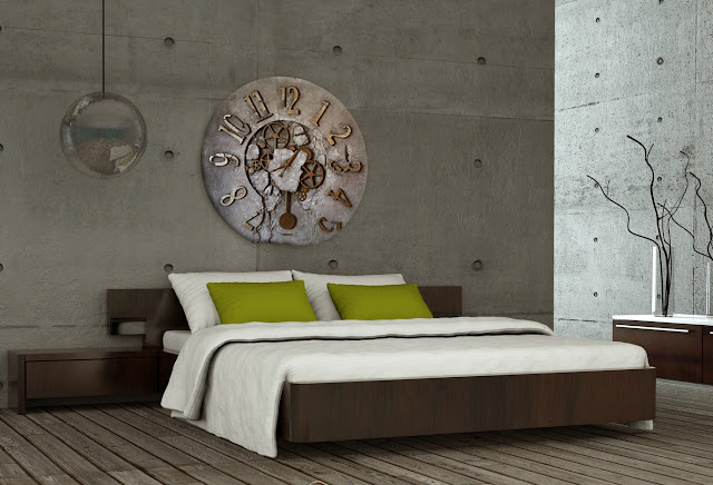 sypialnia zegar