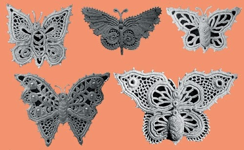 butterfly irish lace detals