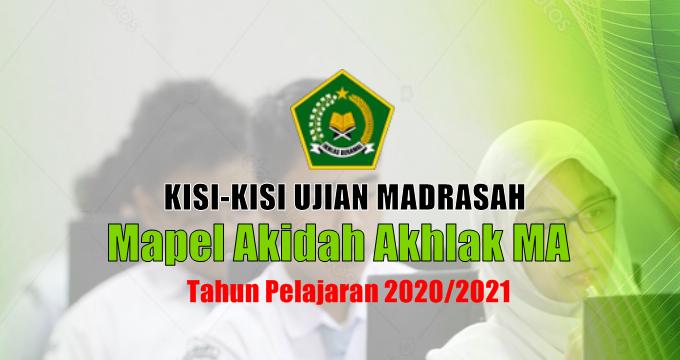 Kisi-Kisi Ujian Madrasah Mapel Akidah Akhlak MA