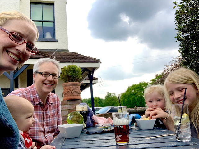 Family birthday trip to the pub for snacks